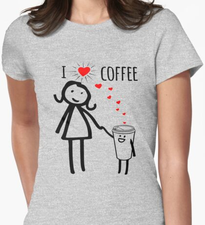Cute I Love Coffee Tees T-Shirt
