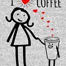 Cute I Love Coffee Tees by EthosWear