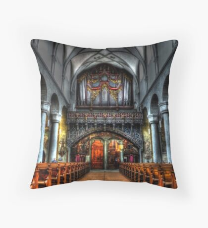Pipe Organ - Constance Cathedral Throw Pillow