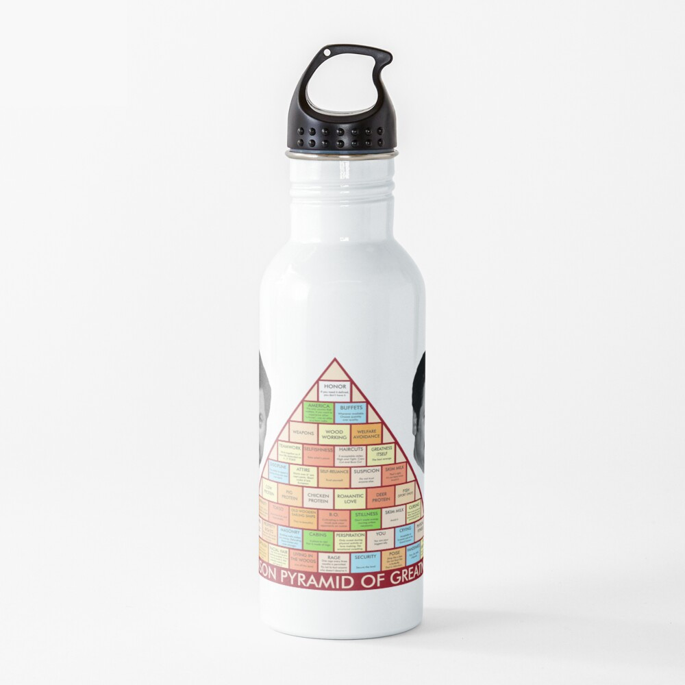 Ron Swanson's Pyramid Of Greatness Water Bottle