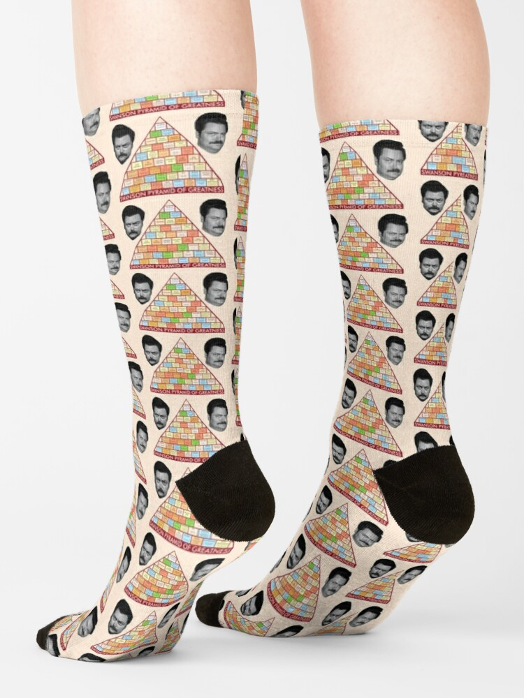 Alternate view of Ron Swanson's Pyramid Of Greatness Socks