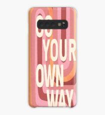 Go your own way Case/Skin for Samsung Galaxy