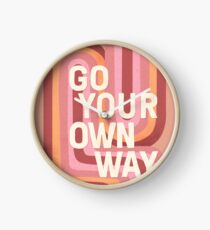 Go your own way Clock