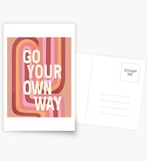 Go your own way Postcards