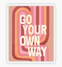 Go your own way Transparent Sticker