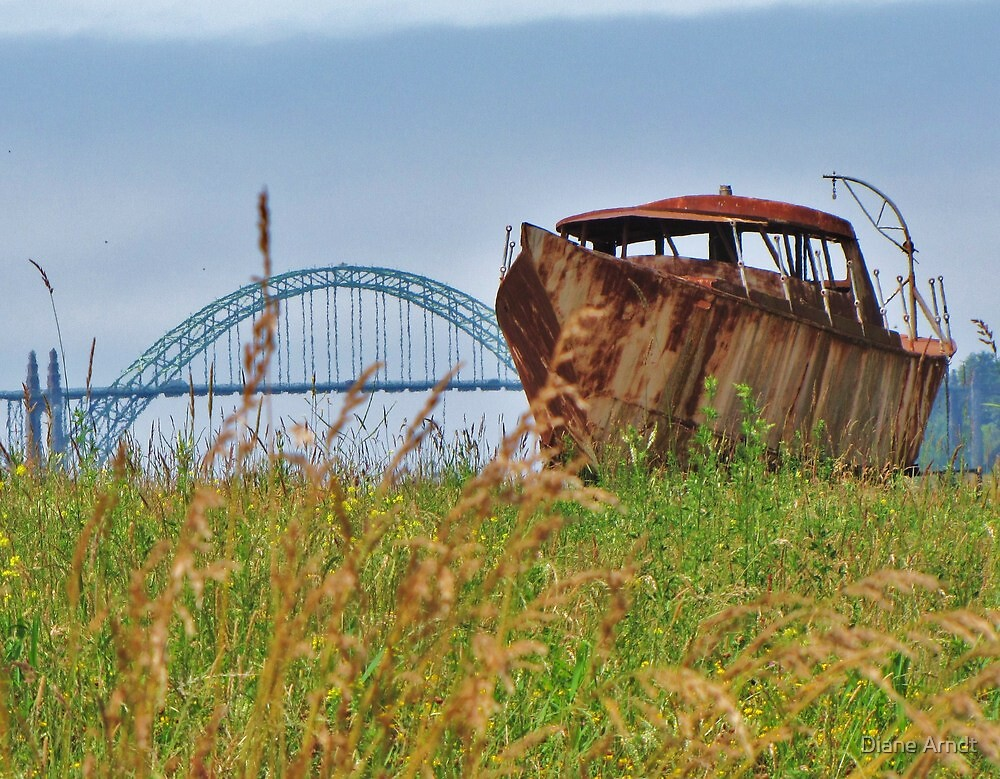 Rusted and Stuck in Newport, Oregon by Diane Arndt