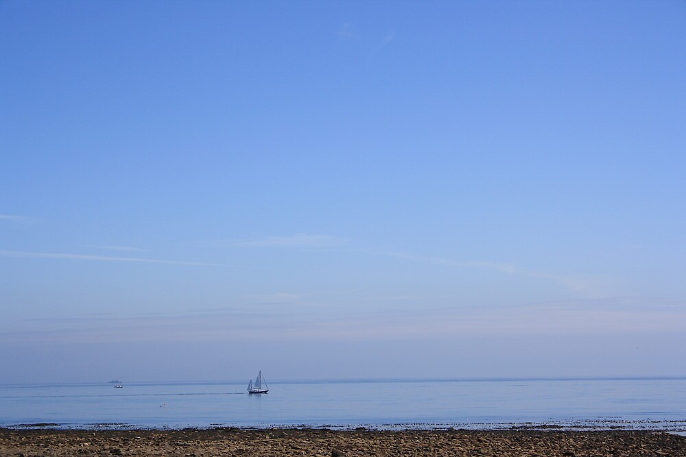 Beautiful Blue Sky And Sea On A Calm Day by decoratingrosie