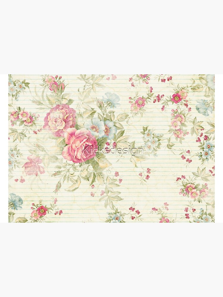 Shabby chic grunge pink floral pattern by Kicksdesign