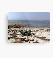 Time Out on a Beach Metal Print