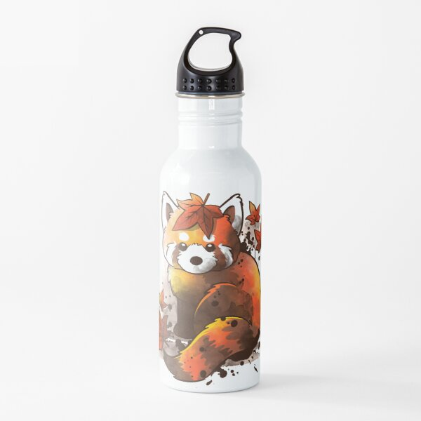 red panda red leaves Water Bottle
