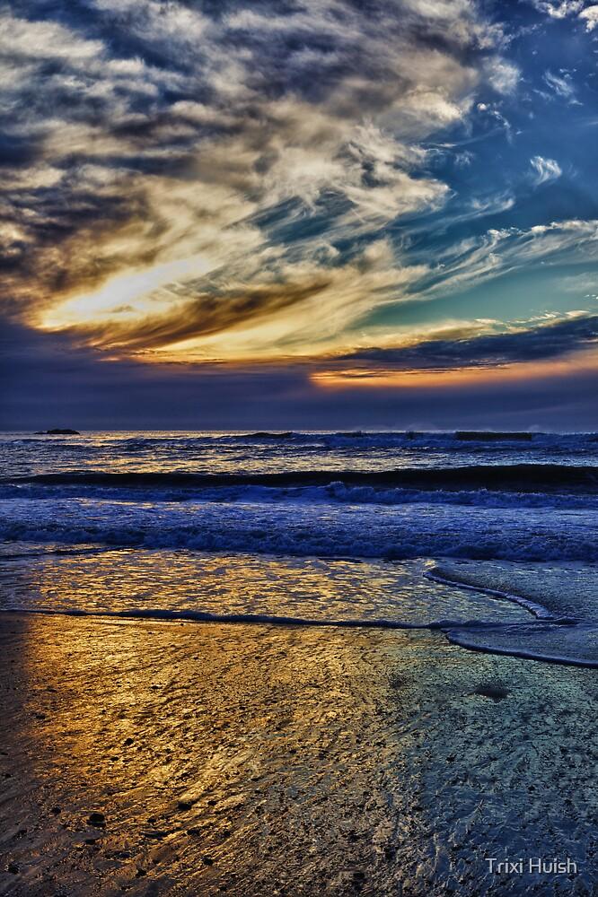 Gold Beach Sunset by Trixi Huish