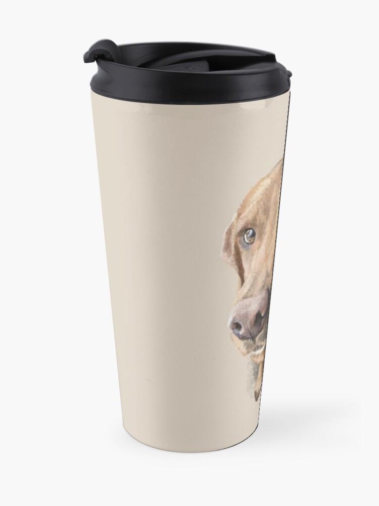 Alternate view of Finn the Labrador Travel Mug