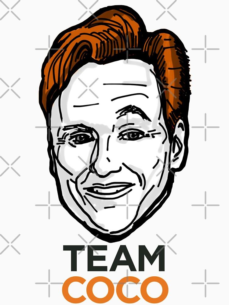 Conan O'Brien Team Coco Smiles & Eyebrows by sketchNkustom