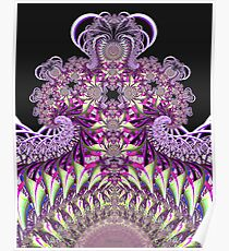 'Purple Fractal Fountain' Poster