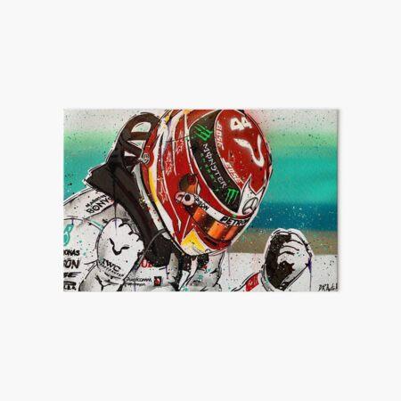 Lewis Hamilton 2019 F1 graffiti painting by DRAutoArt Art Board Print