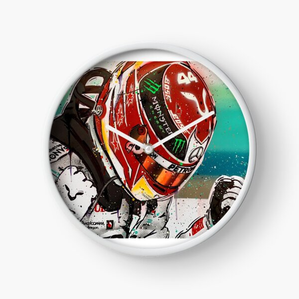 Lewis Hamilton 2019 F1 graffiti painting by DRAutoArt Clock