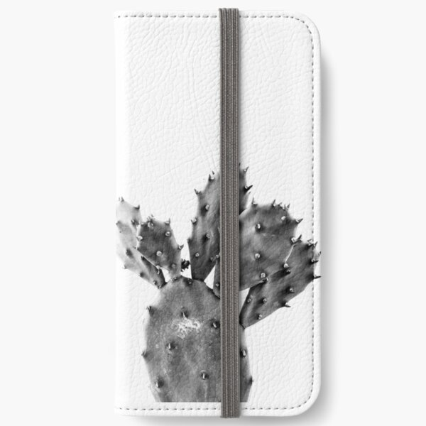 photo of Mini Cactus in black and white  iPhone Wallet