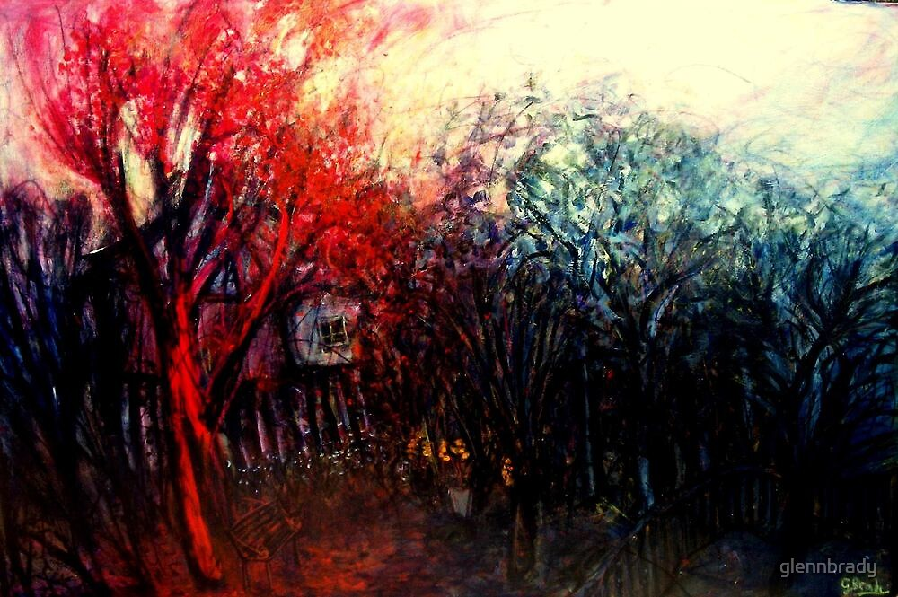 red tree in bloom by glennbrady