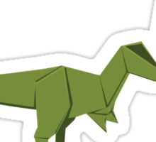 ORIGAMI GREEN DINOSAUR Sticker