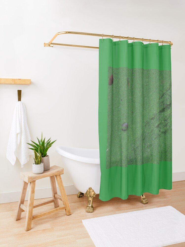 Alternate view of left behind! Shower Curtain