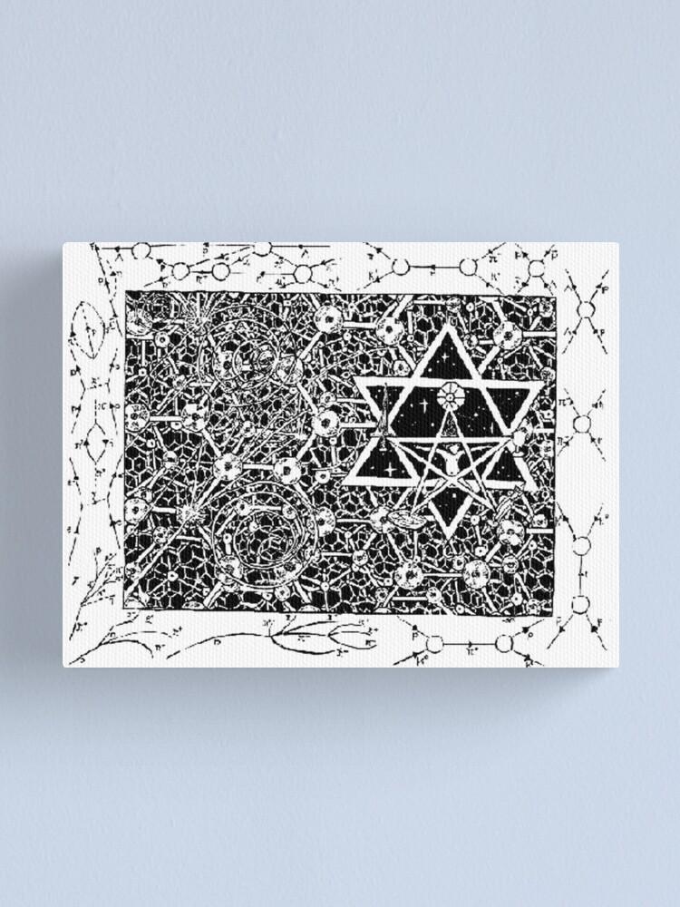 Alternate view of 1996 Quantum Physics Hexagram Canvas Print