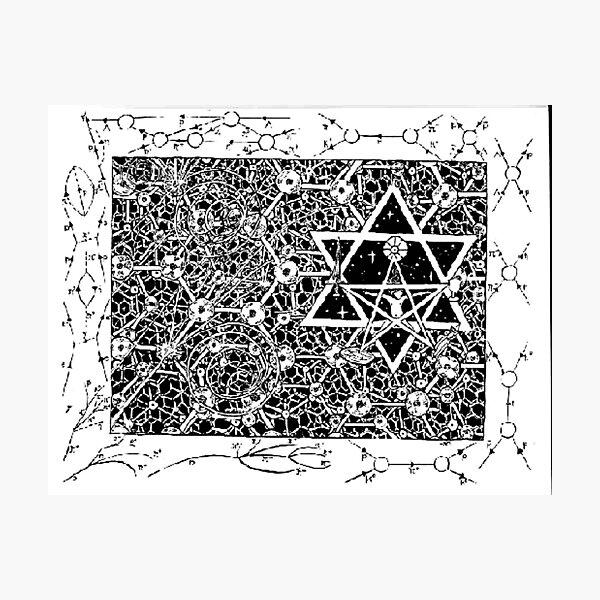 1996 Quantum Physics Hexagram Photographic Print