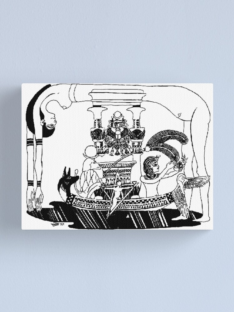 Alternate view of 1993 Egyptian Hieroglyph of Nuit Canvas Print