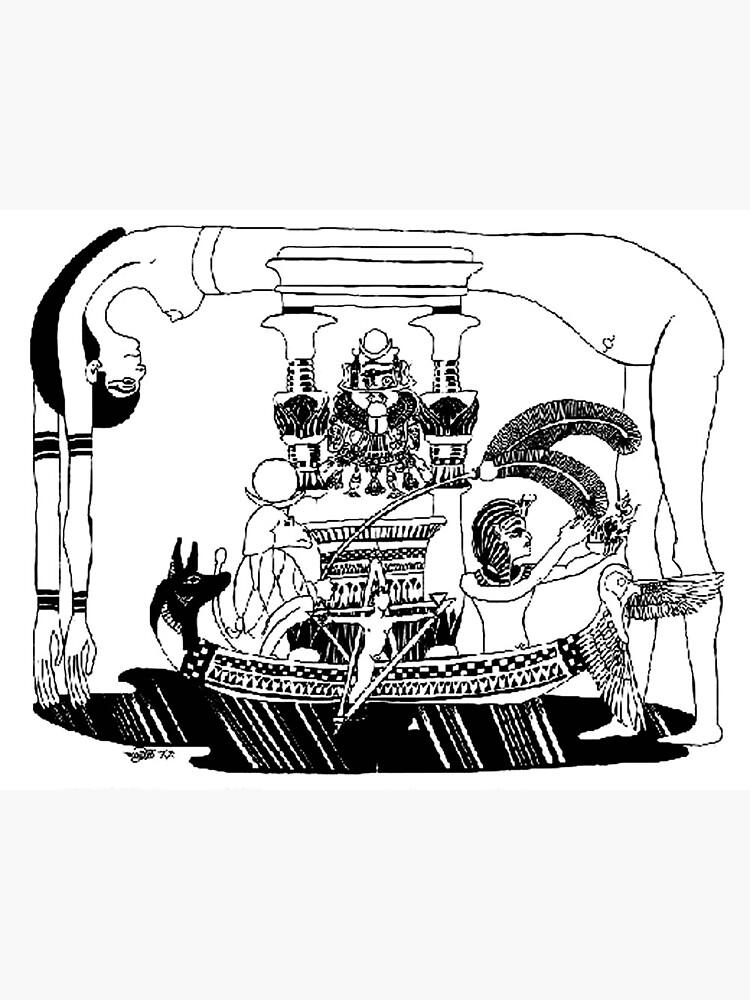 1993 Egyptian Hieroglyph of Nuit by dajson