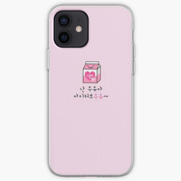 Estuche para teléfono Stray Kids IN lindo rosa leche n2 Funda blanda para iPhone
