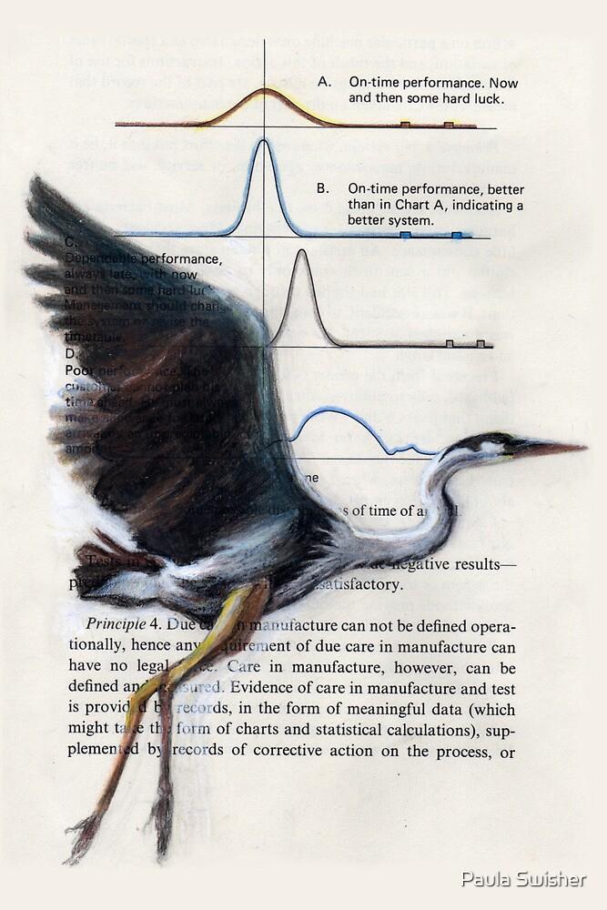 Great Blue Heron: Lifting Off  by Paula Swisher