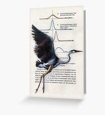 Great Blue Heron: Lifting Off  Greeting Card