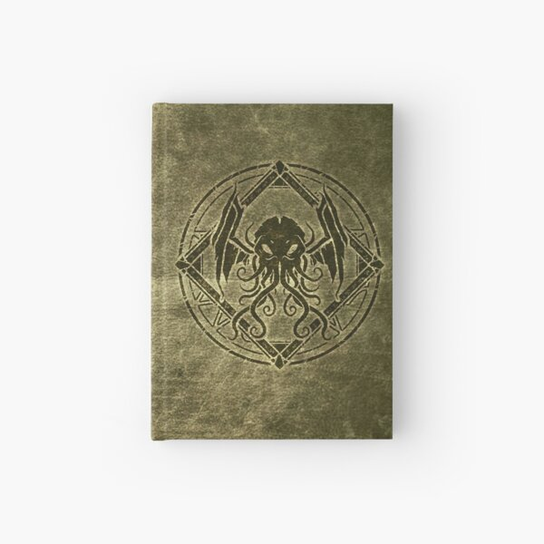 Cthulhu design - Old leather Hardcover Journal