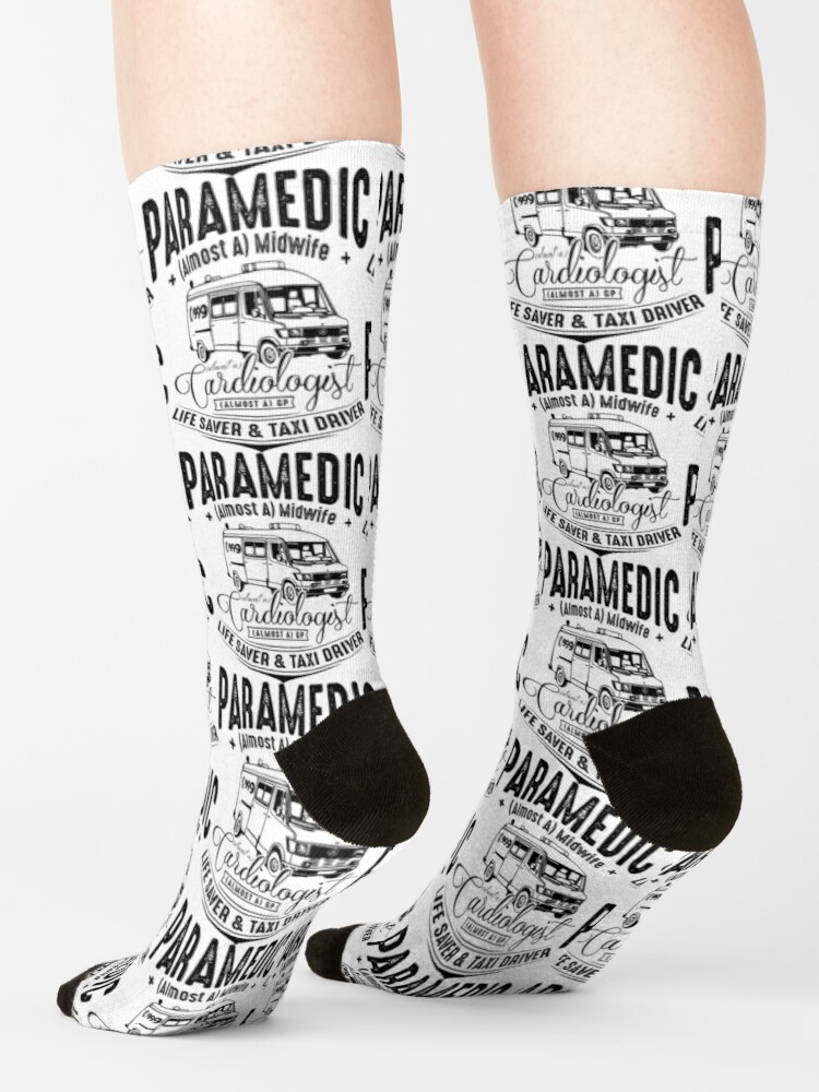 Alternate view of Paramedic - Life Saver and Taxi Driver Socks