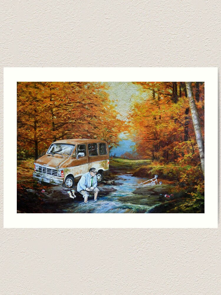 Alternate view of Living in a Van Down by the River Art Print