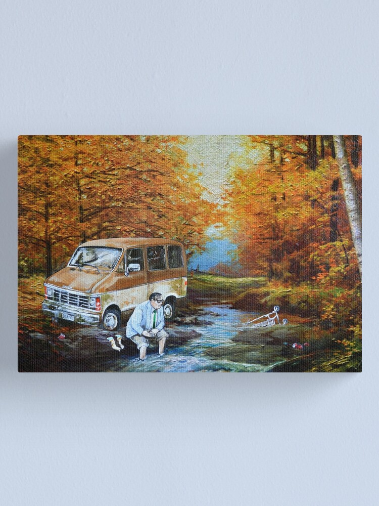 Alternate view of Living in a Van Down by the River Canvas Print