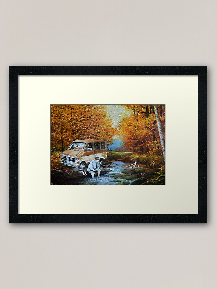 Alternate view of Living in a Van Down by the River Framed Art Print
