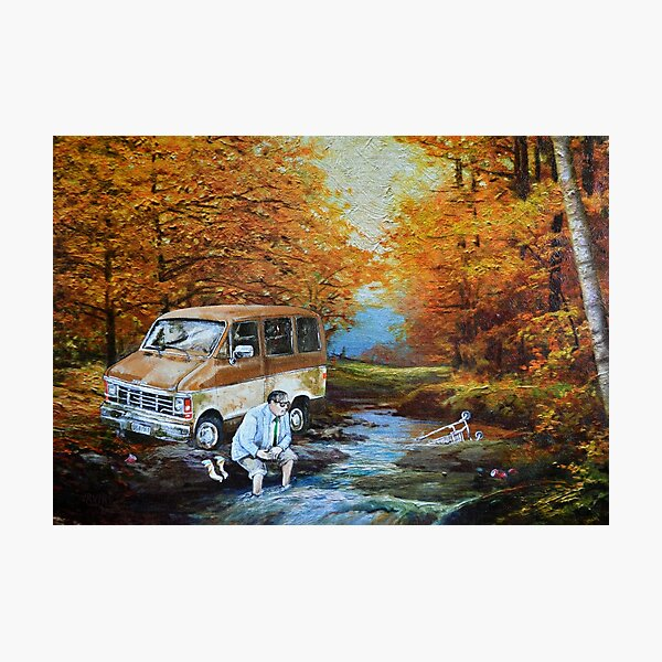 Living in a Van Down by the River Photographic Print