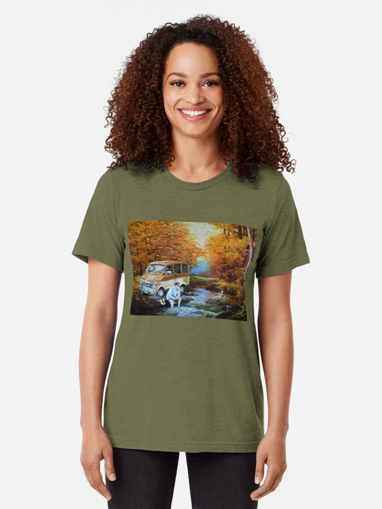 Alternate view of Living in a Van Down by the River Tri-blend T-Shirt