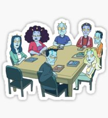 Rick and Morty: The Study Group Sticker