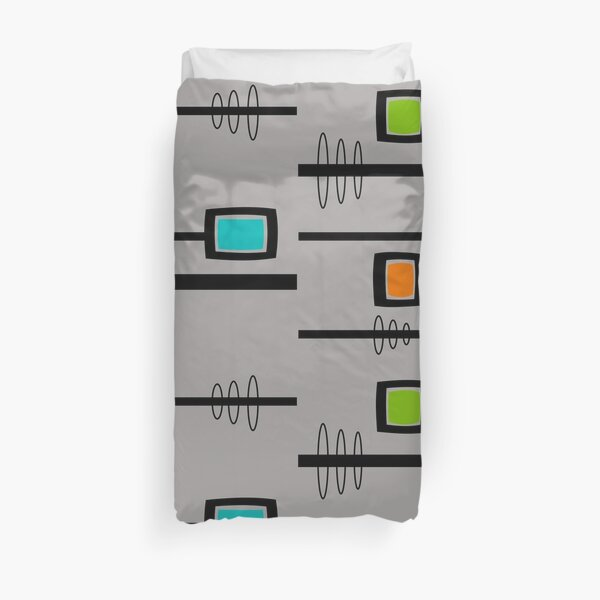 Mid-Century Modern Abstract Duvet Cover