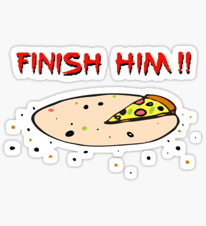 Finish Him! Sticker