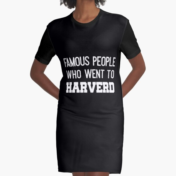 Famous people who went to HARVERD Graphic T-Shirt Dress