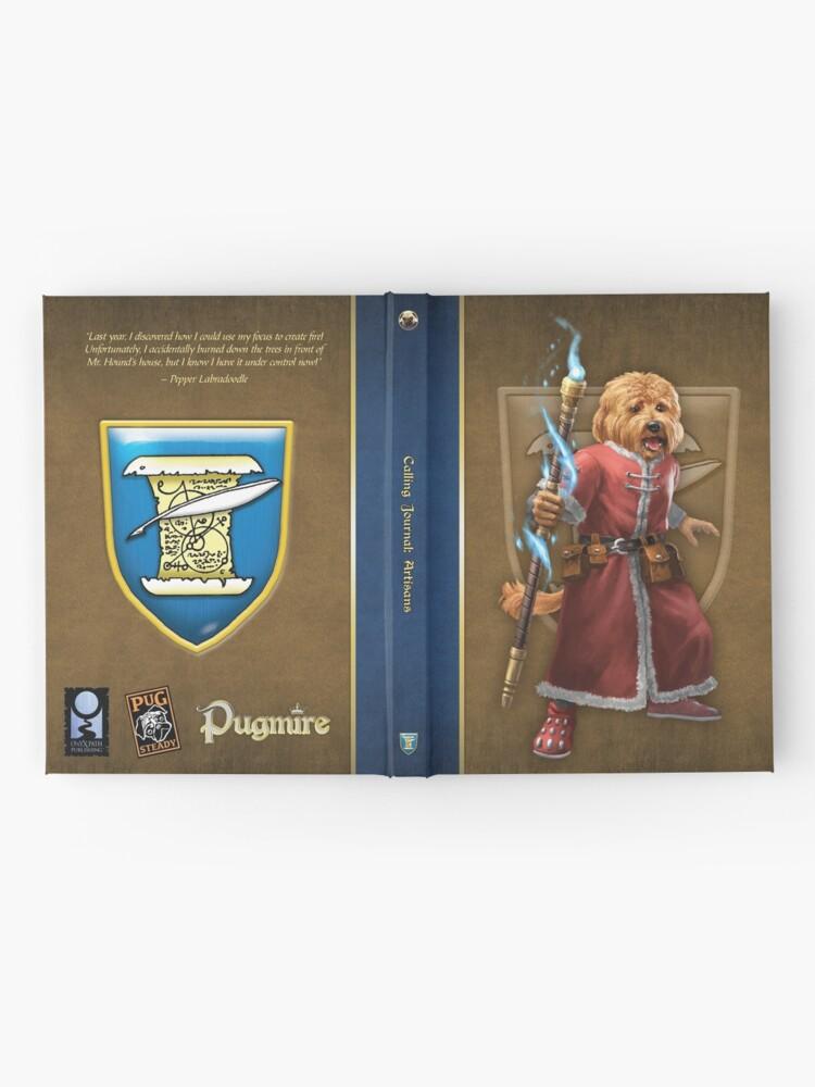 Alternate view of Pugmire: Pepper Labradoodle, Artisan Calling Hardcover Journal