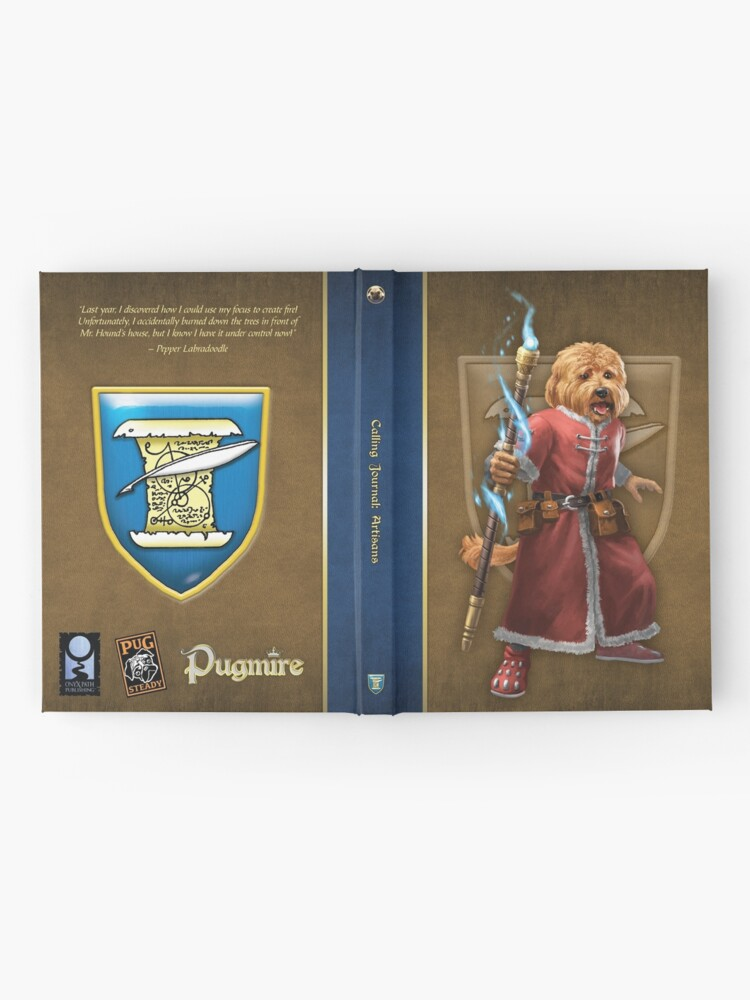Alternate view of Pugmire: Pepper Labradoodle, Artisan Calling Hardcover Journal