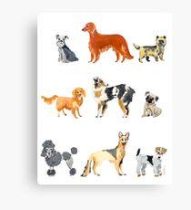 Favorite Dog Breeds Canvas Print