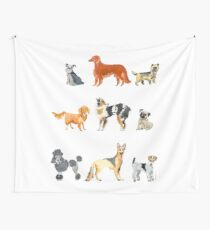 Favorite Dog Breeds Wall Tapestry