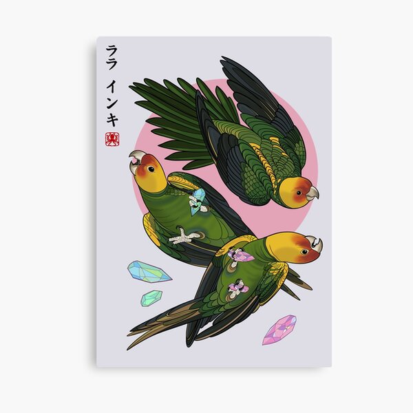 Space Parakeets Canvas Print