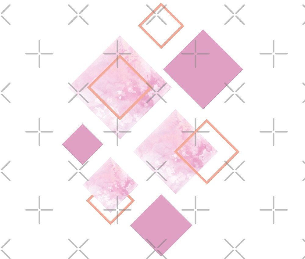 More Lovely Pink, geometry by ColorsHappiness