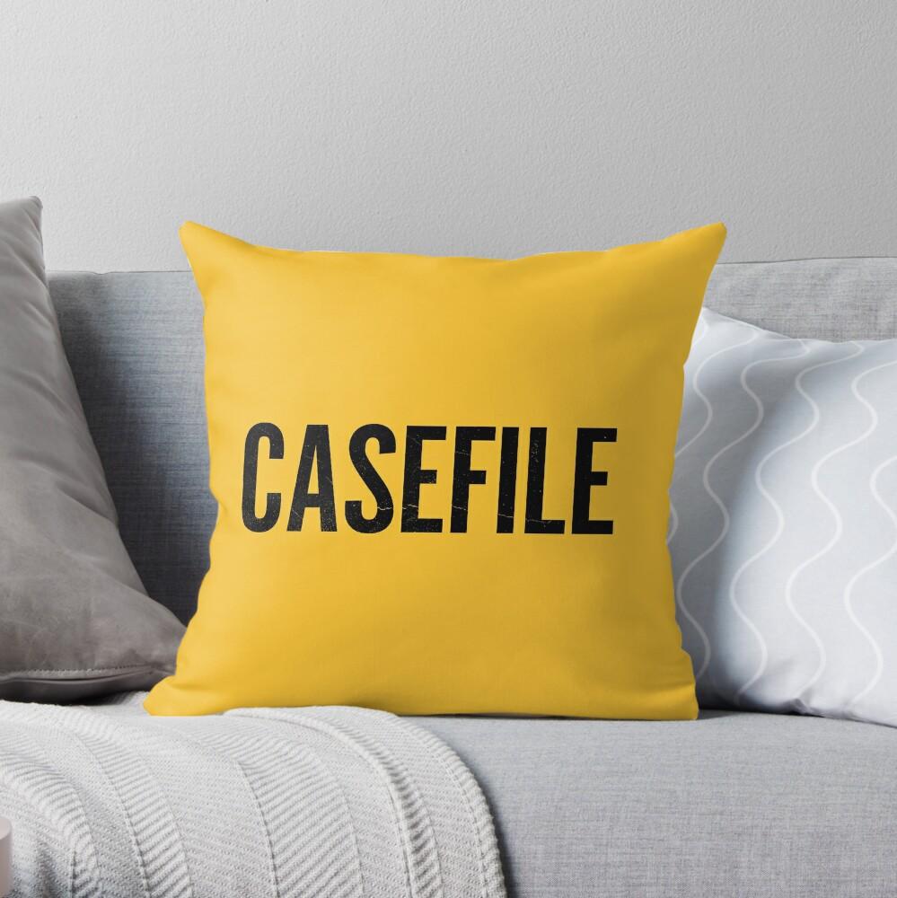 Casefile True Crime Podcast Logo (Dark) Throw Pillow