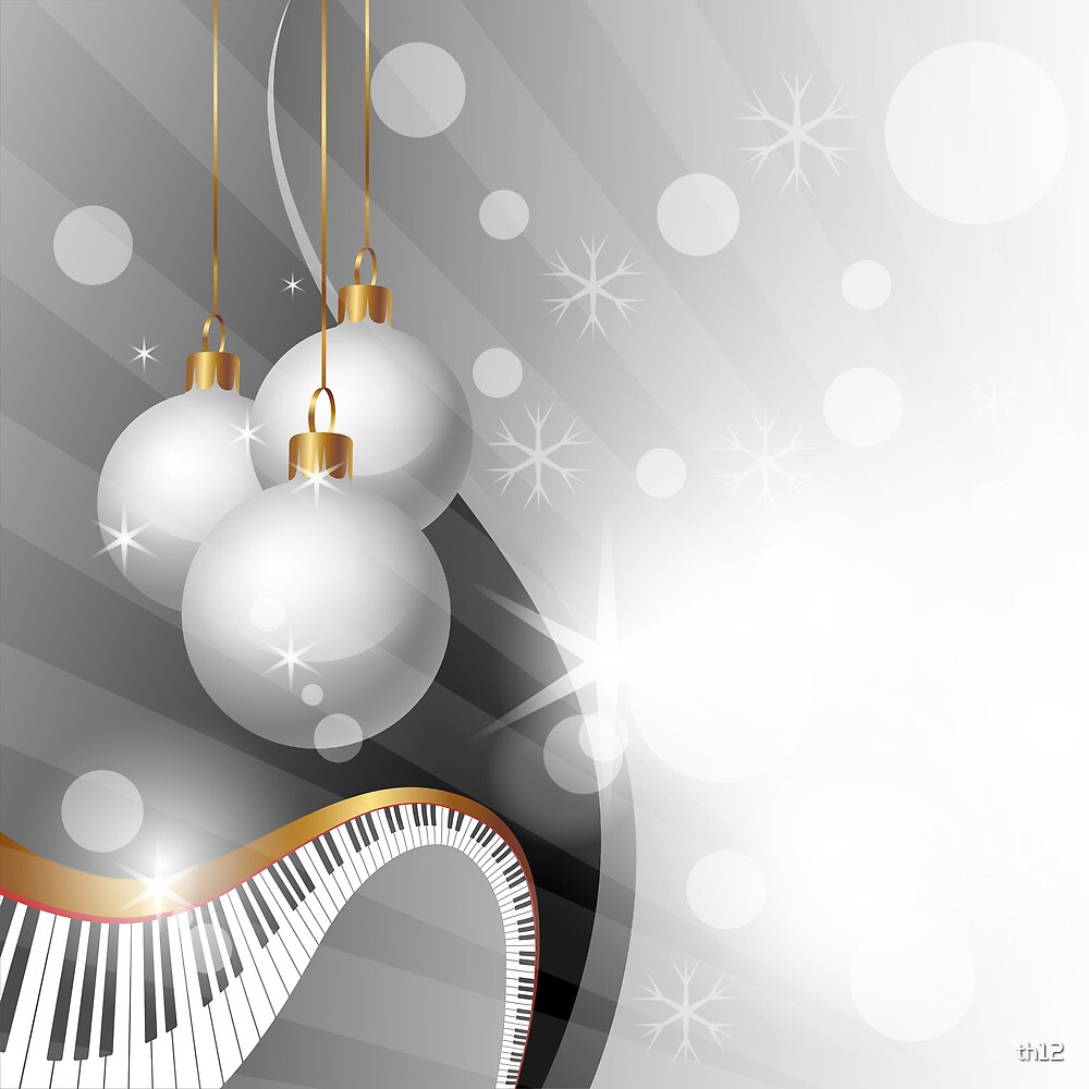Christmas and Music background  by th12